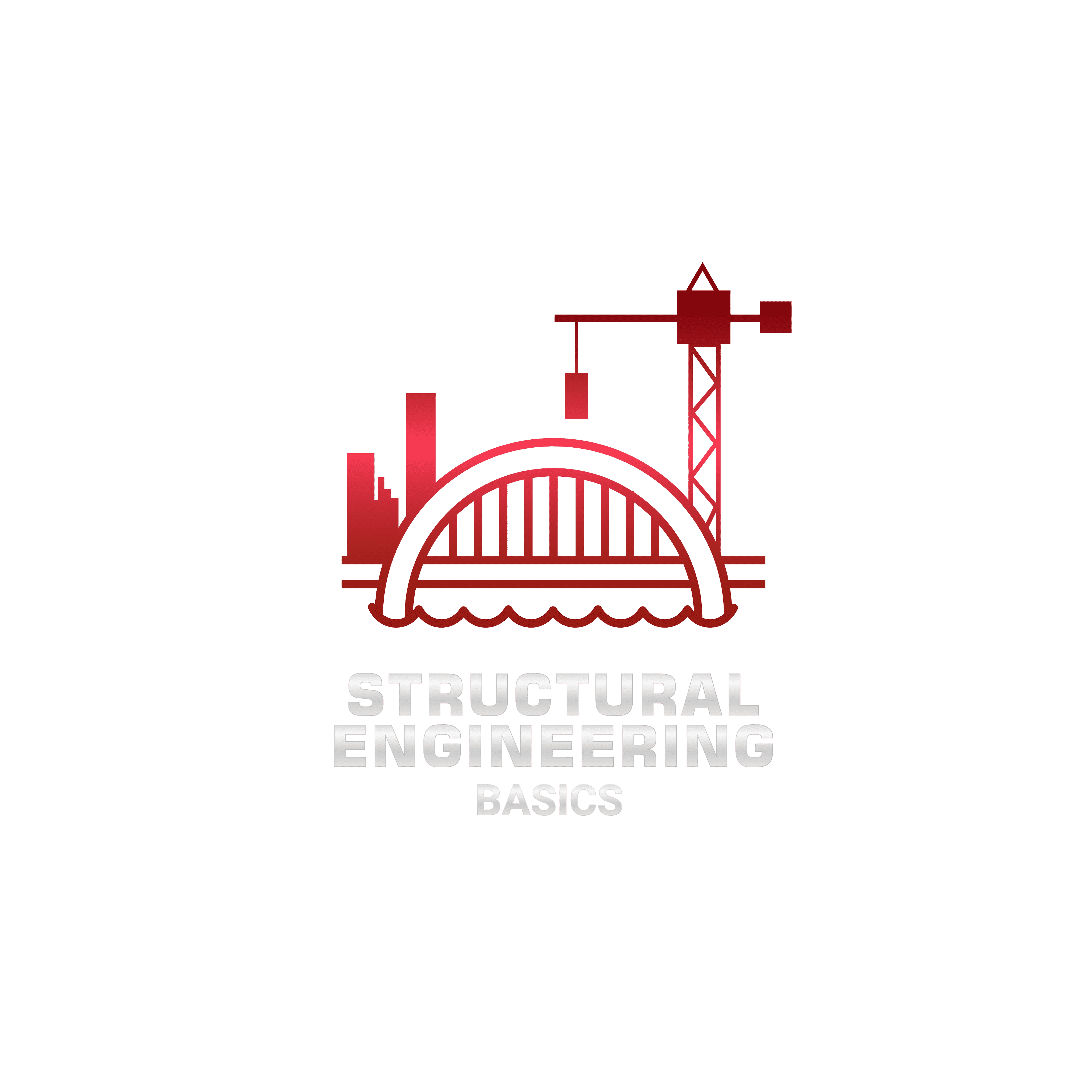structural engineering basics logo red and silver