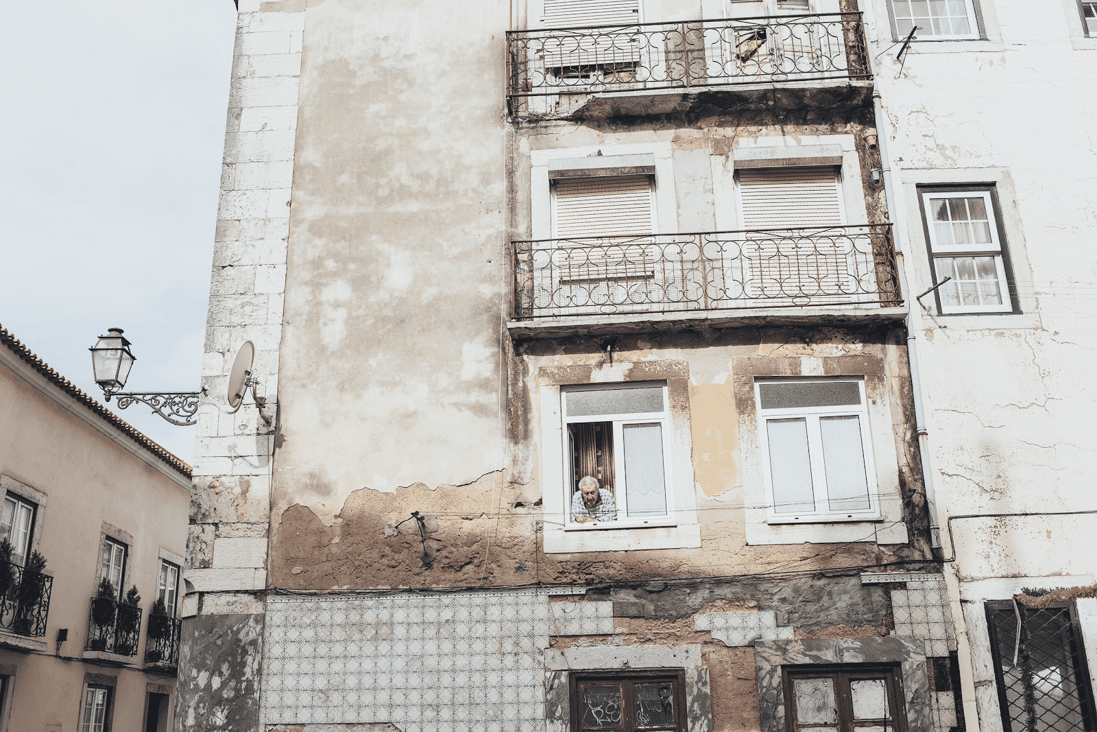 old concrete structured building